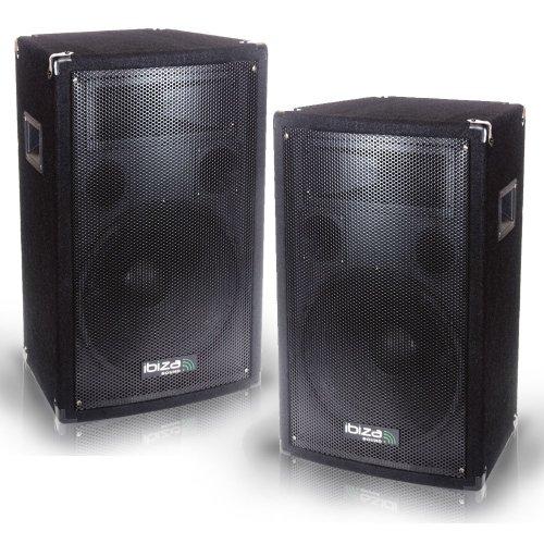800 Watt 3-Weg Bass Reflex Discoboxen PA-Lautsprecher DJ-Boxen DISCO 10B PAAR