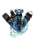 Garing 4 en 1 rasoir électrique rechargeable rasoir rasoir pour hommes sans fil...