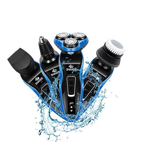 4 1 máquina afeitar eléctrica recargable Máquina
