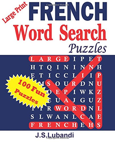 Large Print FRENCH Word Search Puzzles: Volume 1