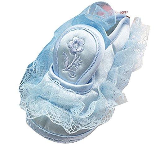 Zhuhaitf Ausgezeichnet Lovely Lace Princess Shoes Baby Girls Comfortable Antiskid Shoes Blue