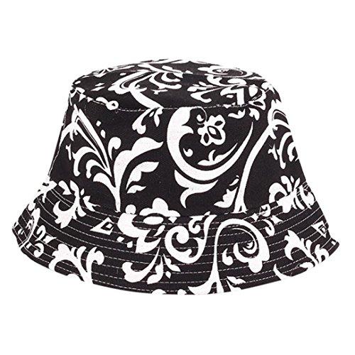 de949f71f Bucket Hats Jamicy Women Men Fashion Flower Print Bucket Hats Casual Sports  Hip Hop Fisherman Hat (C) (G3)