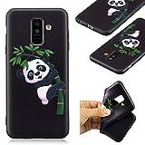 c9a3061931f Custodia per Samsung Galaxy A6 Plus 2018 / A9 Star Lite Cover,JIENI  Transparente Panda