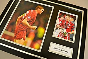 Steven Gerrard Signed Framed Photo Display Liverpool Autograph Memorabilia + COA from Up North Memorabilia