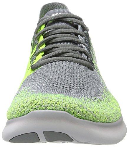Nike - Free Rn Flyknit 2017, Scarpe da corsa Bambino Multicolore (Cool Grey/white-wolf Grey-volt-electro Green)