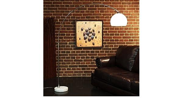 Bogenlampe Weiss Mit Dimmer ~ Retro design bogenlampe weiss mit marmorfuss höhenverstellbare