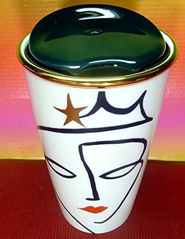 Starbucks 2015miniature de collection anniversaire couronne Sirène Gobelet à double paroi Tasse en céramique–12oz 355ml, magnifique, NEUF avec étiquette SKU, édition limitée
