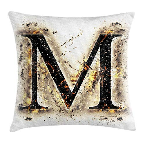 Ntpclsuits Letter M Pillow case Language Writing School -