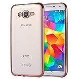 SCSY-case Modetelefonkasten Für Samsung Galaxy Grand Prime / G530 Galvanisieren Soft TPU Schutzhülle Fall (Farbe : Rotgold)