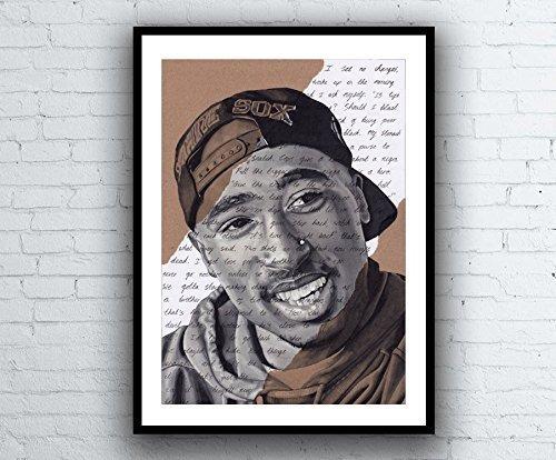 Tupac Shakur Portrait - signed Giclée art