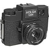 HOLGA Mittelformat-Kamera aus Kunststoff mit integriertem Blitz und Glaslinse, Keine, schwarz, None -