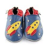 Snuggle Feet - Suaves Zapatos De Cuero Del Bebé Cohete (6-12 meses)
