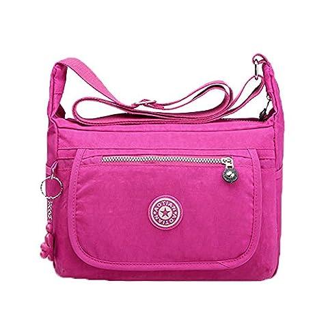 BSTcentelha Womens Girls Waterproof Nylon Leisure Messenger Bags Cross Body Bag Sacs à bandoulière