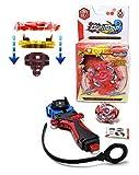 ARUNDEL SERVICES EU BURST-TOP R1. Beyblade-Stil Kreisel mit Handwerfer Bey-Klinge Beyblade Stil Spielzeug rot