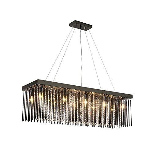 CL@ Moderne Kristalllampen-Decke, Rechteck-Restaurant-Leuchter-Speisetisch beleuchtet geführten Leuchter Kronleuchter (größe : 100 * 30cm)