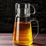 TAMUME Bicchiere Brocca d'Acqua e Set di Tazza di Vetro Brocche e Caraffe da Tavola Teiera e tazze da tè - Set di Brocca e Tazza