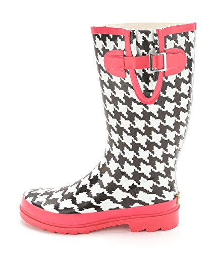 Western Chief Womens Houndstooth Closed Toe Mid-Calf Rainboots