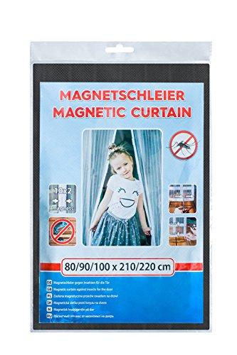 INSEKTENSCHUTZ MAGNETVORHANG SCHWARZ 80/90/100X210/220 CM TÜRNETZ FLIEGENGITTER MAGNET
