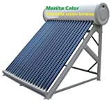 Panel solar térmico para agua cliente, depósito inoxidable de 100litros, accesorios incluidos