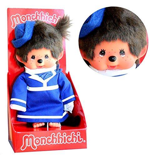 Sekiguchi Stewardess | 20 cm | Monchhichi Puppe | Mädchen | Flugbegleiterin mit Kostüm
