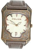 Police P14252JSQR-07 - Reloj para hombres, correa de cuero color marrón de Police