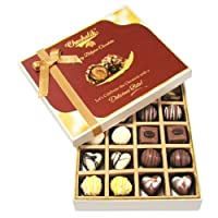 Chocholik 20pc Milk And White Chocolate Treat Luxury Chocolates - Valentine Special Love Gifts
