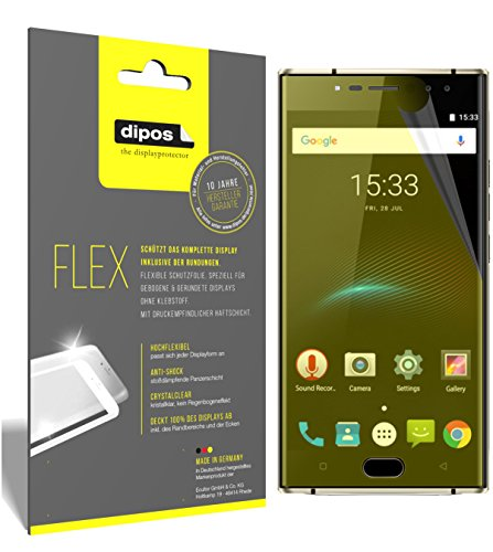 dipos I 3X Schutzfolie 100% passend für Oukitel K3 Folie (Vollständige Bildschirmabdeckung) Bildschirmschutzfolie
