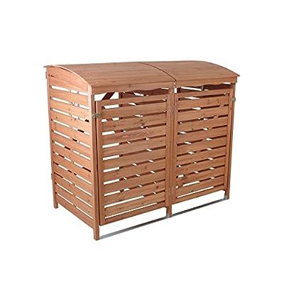 Mülltonnenbox mit Rückwand Holz 2Mülltonnen 240l Mülltonnenverkleidung von Profiwelten - Du und dein Garten