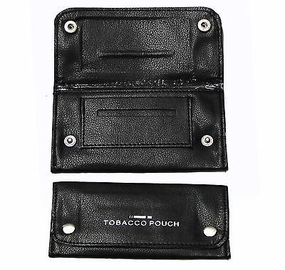Soft Black Leather Tobacco Pouch...