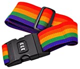 Okayji 2 Meter Adjustable Packing Band Belt Strap with Password Lock for Luggage Baggage, Multicolour