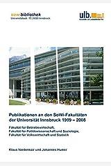 Publikationen an den SoWi-Fakultäten der Universität