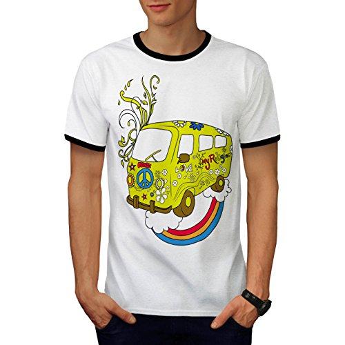 Liebe Meine Religion Freude Frieden Auto Herren L Ringer T-shirt | Wellcoda (Krebs-ringer)