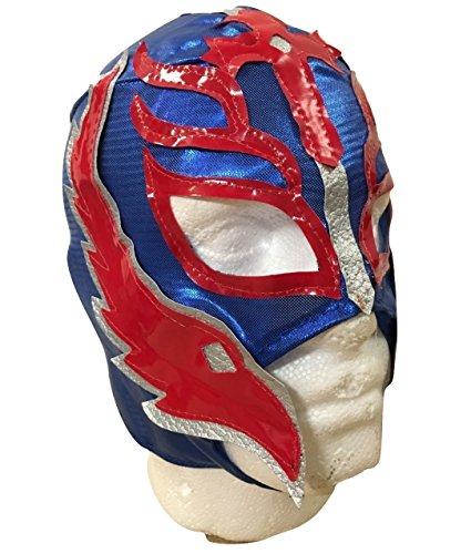 UK Halloween Karneval Cosplay Blau Wrestling Rey Mysterio Son of the Devil Reißverschluss - Kinder Voller Kopf Maske - Kostüm Verkleidung Kostüm Outfit Wwe Party