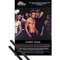 1art1® Póster + Soporte: El Club De La Lucha Póster (91x61 cm) Brad Pitt, Colección De Cine (Escena De Lucha) Y 1 Lote de 2 Varillas Negras