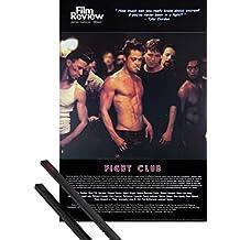 Póster + Soporte: El Club De La Lucha Póster (91x61 cm) Brad Pitt, Colección De Cine (Escena De Lucha) Y 1 Lote De 2 Varillas Negras 1art1®