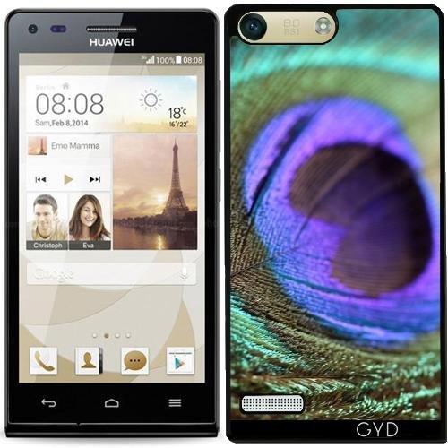 DesignedByIndependentArtists Hülle für Huawei AscendP7 Mini - Pfau Vogelfeder Tier by ()
