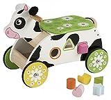 Unbekannt Sort and go Cow / Sortierwagen Kuh / 6 Bunte Geometrische Formen Zum einsortieren / Material: Holz / Maße: 37 x 20 x 30 cm / ab 1 Jahr
