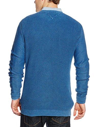 Hilfiger Denim Thdm Cn Sweater L/S 11, Pull Homme Blau (Mid Indigo 412)