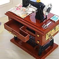 Caja de música nueva, yoyoug Vintage de estilo caja de música mini máquina de coser