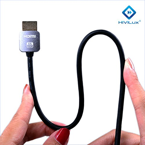 HiViLux Super Slim/Flexible HDMI Kabel 2,0 | Metal Stecker | OFC Leitung | für HDR | HDR10 | HDR 10+ | Dolby Vision | 4K/UHD | 3D | ARC | HighSpeed with Ethernet | HDMI A -> HMDI A (2m)