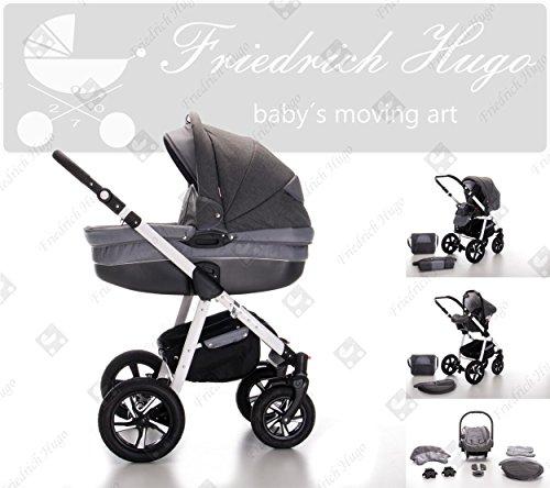 Friedrich Hugo | Modelo Mandala | 3 in 1 Sistemas de viaje | Carritos con capazo, Sillas de paseo, Sillas Infantiles