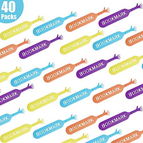 40 Pezzi Divertenti Aiutami Segnalibri Novità Segnalibri a Mano Tampone Taccuini per Articoli di Cancelleria per Ufficio, 4 Colori