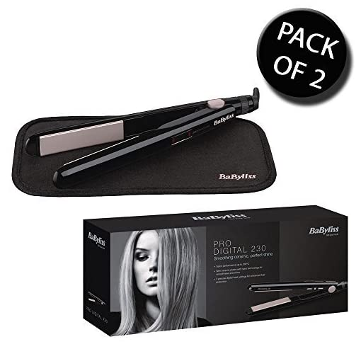 babyliss 2079u - 51QxRmmJAwL - 2x BaByliss 2079U Pro Digital 230 Hair Straighteners