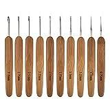 Lopbinte 10Pcs Mix Size 0,75Mm-3Mm Uncinetto Knit Tessuto Filato Craft Knitting Needle Bamboo Handle Knitting Hooks Aghi Strumenti