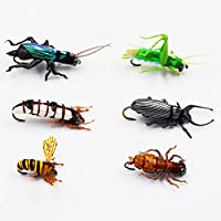 Flyafish Locust Dung Beetle Dragonfly Larva Cricket Grub Bumble Bee Fishing Dry and Wet Fly Lure