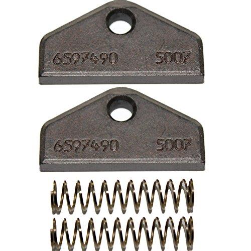 1 Paar Kohlebürsten für Miele Trockner Wäschetrockner 1454590 / 1454591 / 6597490 inkl. Feder