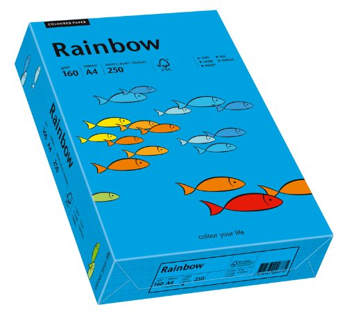 Papyrus 88042769 Druckerpapier Rainbow 160 g/m², A4 250 Blatt intensivblau