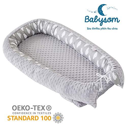 Babysom - Cocon Réducteur de lit | Nid d'ange bébé - Réversible -...