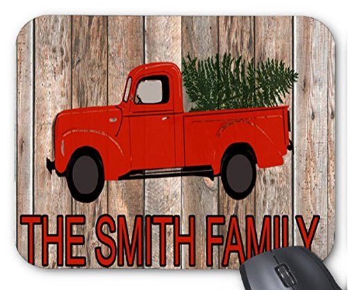 The Smith Family with Red Small Car Design Mouse Pad 7x8.66 inch