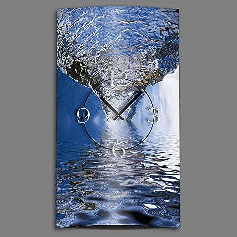 Diseño de acero inoxidable diseño de remolino de agua reloj de pared de diseño moderno reloj de pared diseño silencioso sin tic tac DIXTIME 3D-0031